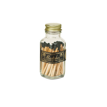 Vintage Mini Matches - Black/Gold