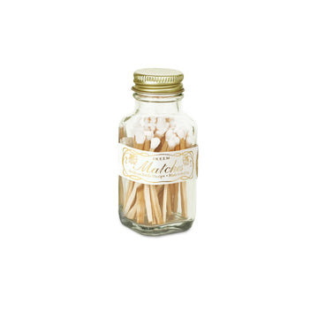 Vintage Mini Matches - White/Gold