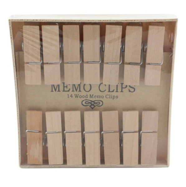 Natural Wood Memo Clips