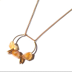 Roughly Faceted Citrine Spike Necklace