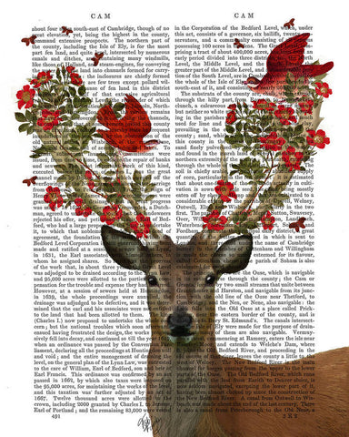 Deer and Love Birds Book Print