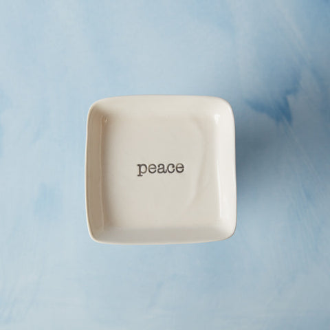 Square Dish | Peace
