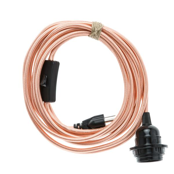 Color Cord Plug in- Polished Copper