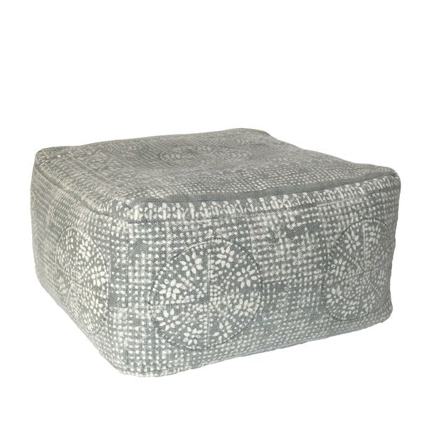 Square Pouf - Sky Grey