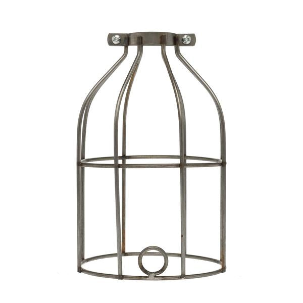 Industrial Light Bulb Cage-Raw Metal