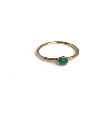 Raw Small Emerald Ring
