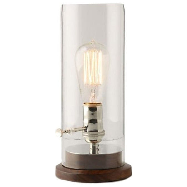 Edison lamp with walnut base collier west - Roost edison lamp ...
