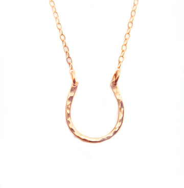 Rose Gold Horse Shoe Necklace