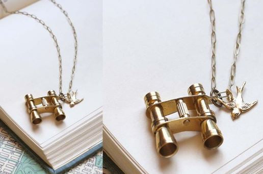Bird Watcher Necklace - Binoculars
