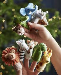 Safari Finger Puppet Ornament