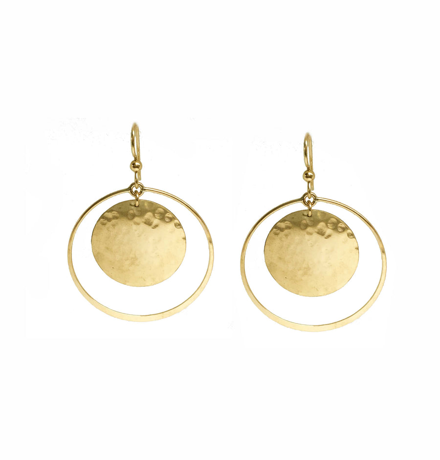 Medium Double Medallion Earrings
