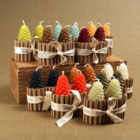Small Pine Cone Candles (Pair)