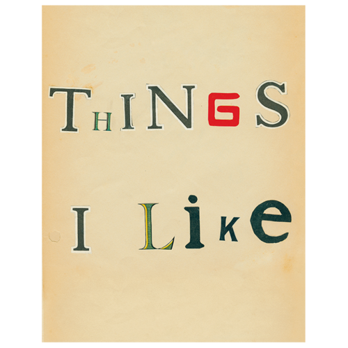 Things I Like Tray 11 x 14