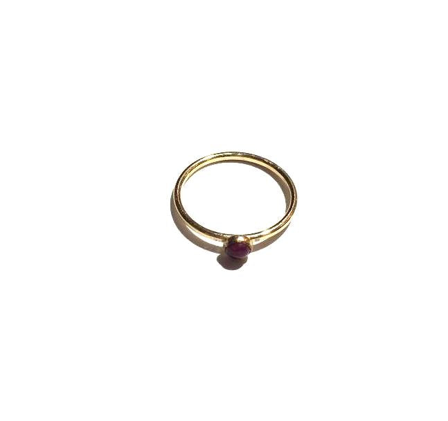 Small Raw Ruby Ring