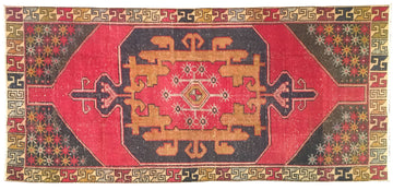 Vintage Turkish Rug 4'2