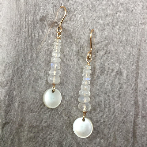 Pearl Drop Gold Filled Earring