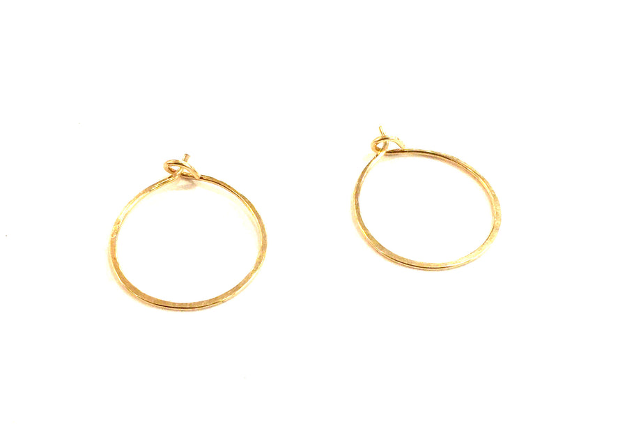 Closed Hoop Earrings-Small