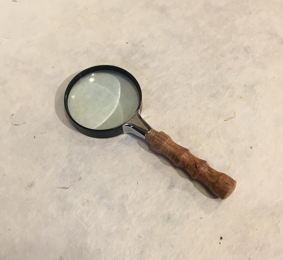 Turned Wood Magnifying Glass