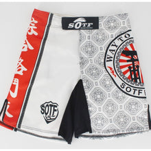 Load image into Gallery viewer, White Design Training MMA Shorts