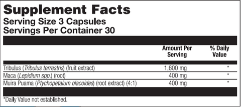 Andro Plus (Nutra Biogenesis) Supplement Facts