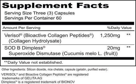Cellu-Erase (Priority One Vitamins) Supplement Facts