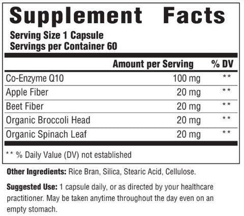 CoQ10 100mg (Innate Response) Supplement Facts
