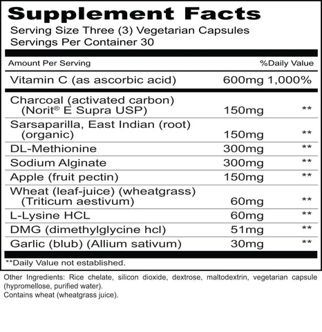 Environmental Defense I (Priority One Vitamins) Supplement Facts