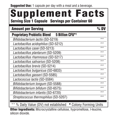 Flora 5-14 Complete Care (Innate Response) Supplement Facts