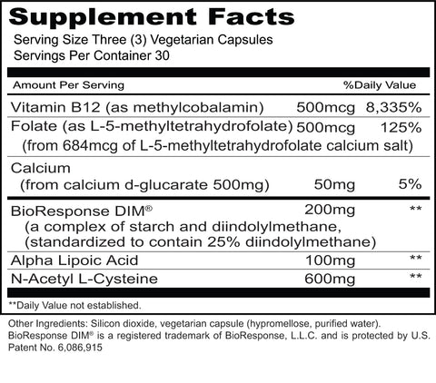Hormone Clear (Priority One Vitamins) Supplement Facts
