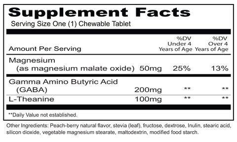 Kid Kalm (Priority One Vitamins) Supplement Facts