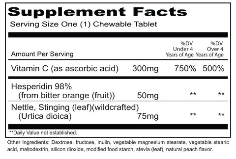 KinderClear (Priority One Vitamins) Supplement Facts