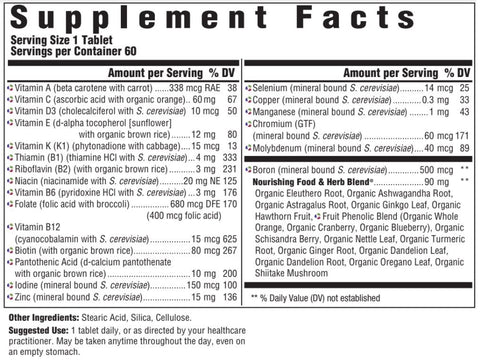 Men Over 40 One Daily Iron Free (Innate Response) Supplement Facts