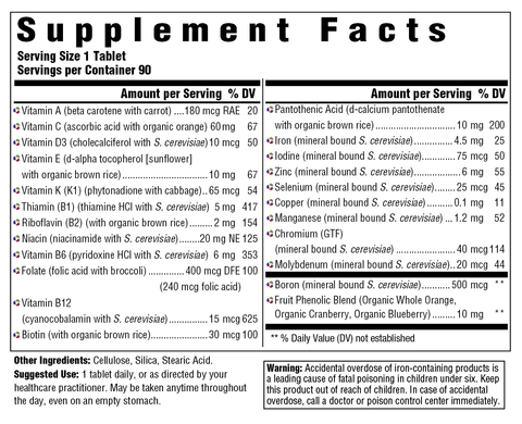 One Daily (Innate Response) Supplement Facts