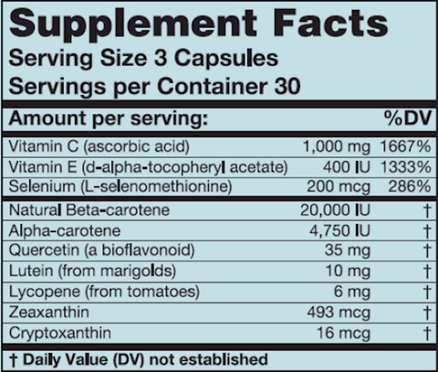 OxyGuard (Karuna Responsible Nutrition) Supplement Facts