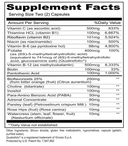 Stress B & C (Priority One Vitamins) Supplement Facts