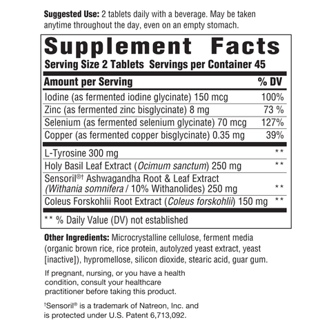 Thyroid Response Complete Care (Innate Response) Supplement Facts