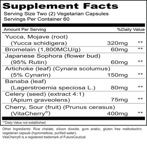 UA Clear (Priority One Vitamins) Supplement Facts