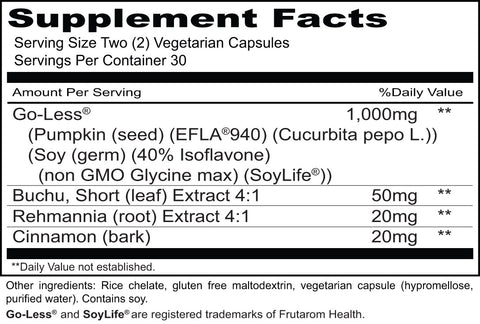 Urgent-Less (Priority One Vitamins) Supplement Facts