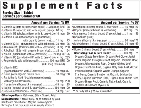 Women Over 40 One Daily (Innate Response) Supplement Facts