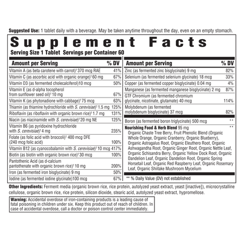Women's One Daily (Innate Response) Supplement Facts