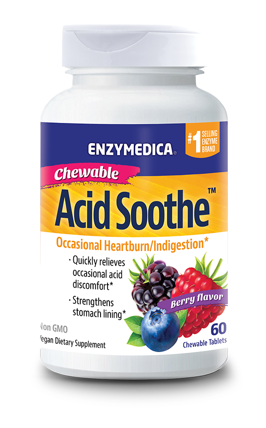 BACKORDER ONLY - Chewable Acid Soothe  (Enzymedica)