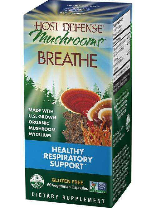 BACKORDER ONLY - Breathe CAPSULES - Host Defense Mushrooms