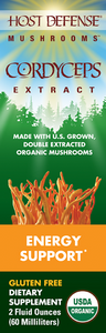 Cordyceps - Host Defense Mushrooms - 2oz EXTRACT