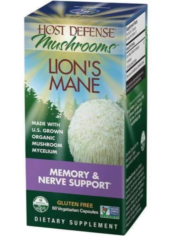 Lion's Mane Capsules - Host Defense Mushrooms