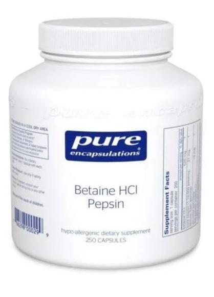 Betaine HCl Pepsin - (Pure Encapsulations)