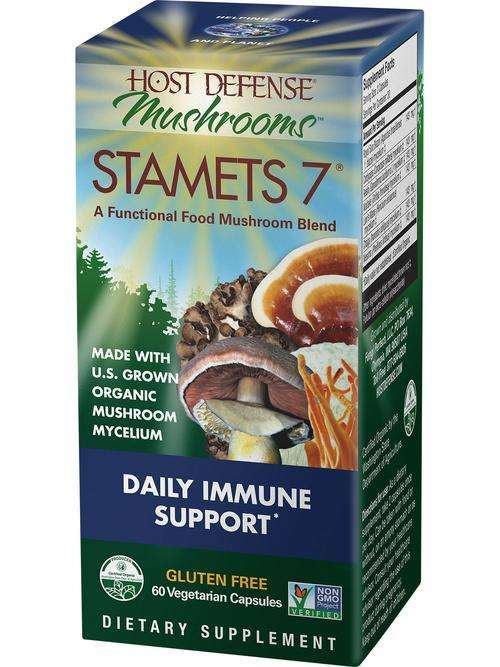 Stamets 7 CAPSULES - Host Defense Mushrooms -25% discount
