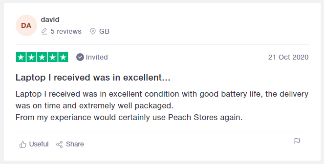 Review for Peach Stores from David
