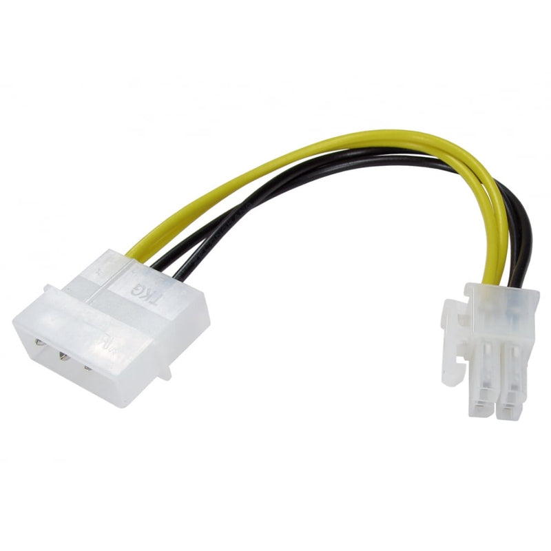 4 Pin Molex to 4 Pin P4 Power Adapter/Converter Cable - 0.15M - Peach Stores