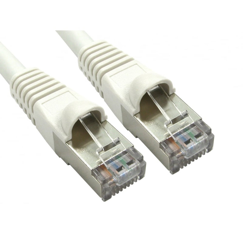 Cat6A RJ45 Ethernet Patch Network Cable (White) - 0.25M - Peach stores
