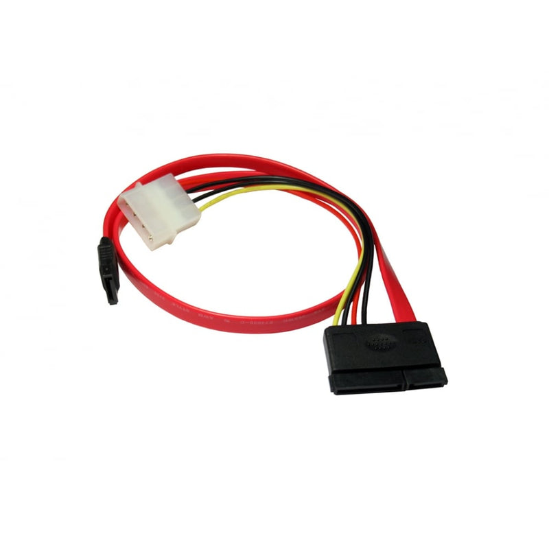 SATA v2 Combo Power & Data to Data and 4 Pin Molex Cable
